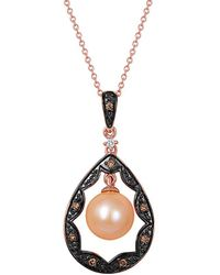 Le Vian - ? 14k Rose Gold Diamond & 8-9mm Pearl Necklace - Lyst