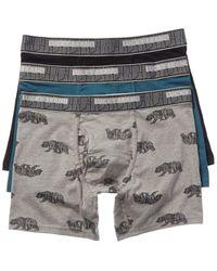 Lucky Brand 3pk Stretch Boxer Briefs - Gray