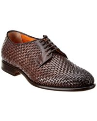 Santoni Leather Oxford - Brown