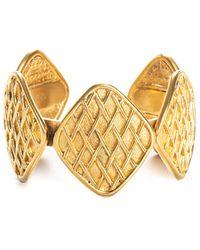 Chanel Gold-tone Cuff Bracelet - Metallic