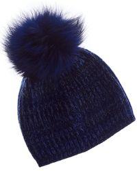 Portolano - Cashmere Hat With Pom - Lyst