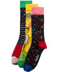 Happy Socks Pack Of 3 Socks