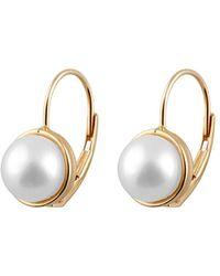 Splendid - 14k 7-7.5mm Freshwater Pearl Earrings - Lyst
