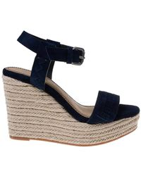 Splendid Shayla Suede Wedge Sandal - Blue