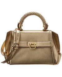 Ferragamo - Sofia Leather Top Handle Tote - Lyst