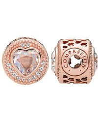 PANDORA Essence Collection Rose & Cz Compassion Charm - Pink