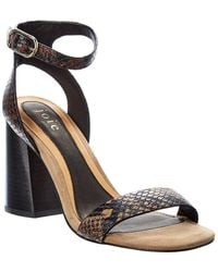 Joie Stretch Ankle Wrap Leather Sandal - White