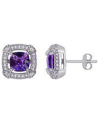 Rina Limor 10k 2.02 Ct. Tw. Diamond & Gemstone Studs - Multicolour