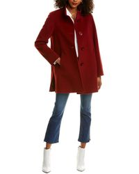 Cinzia Rocca Wool & Cashmere-blend Coat - Red