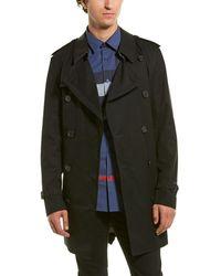 Burberry Short Wimbledon Trench Coat - Black