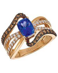 Le Vian - ? 14k Rose Gold 1.96 Ct. Tw. Diamond & Tanzanite Ring - Lyst