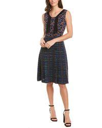 Anna Sui Braided Tweed Wool-blend Sheath Dress - Blue