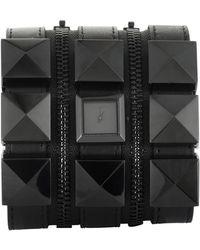 Karl Lagerfeld Women's Leather Watch - Black