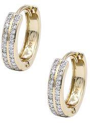 Diana M. Jewels - . Fine Jewelry 14k 0.20 Ct. Tw. Diamond Hoops - Lyst