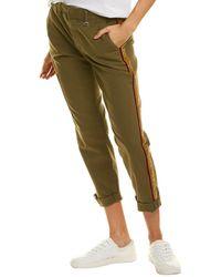 Joe's Jeans Joes Jeans The Trouser Side Stripe Dark Olive Ankle Cut Jean - Green