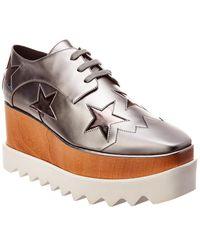 Stella McCartney Elyse Star Cut-out Platform Oxford - Grey