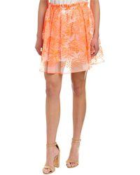 Maje Embroidered Organza Skirt - Pink