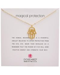 Dogeared Protection Collection 14k Over Silver Necklace - Metallic