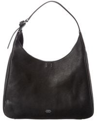Vince Camuto Adria Leather Hobo - Black