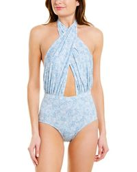 6 Shore Road By Pooja Signature Cabana One-piece - Blue