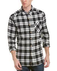 Jachs Hi-lo Classic Fit Woven Shirt - Black
