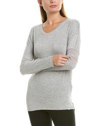 Marc New York Mesh Sleeve T-shirt - Gray