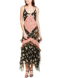 Michael Kors Ruffled Floral-print Silk-chiffon Maxi Dress - Black