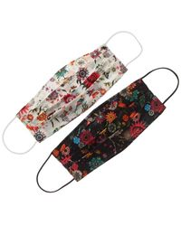 Nicole Miller Pack Of 2 Cloth Face Masks - Multicolour