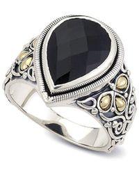 Samuel B. 18k Over Silver 4.40 Ct. Tw. Black Onyx Ring