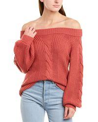Nation Ltd Carlotta Alpaca-blend Sweater - Red