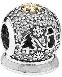 PANDORA - 14k & Silver Cz Wonderland Charm - Lyst