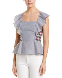 80c9a149b98dcf Sea Women's Solange Long-sleeve Button-down Ruffle Silk Blouse ...