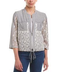 BCBGeneration Lace Front Jacket - Blue