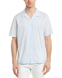 Vince Poplin Cabana Buttondown Shirt - Blue