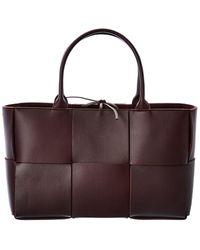Bottega Veneta Arco Leather Tote - Brown