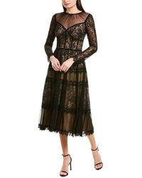 Tadashi Shoji Midi Dress - Black