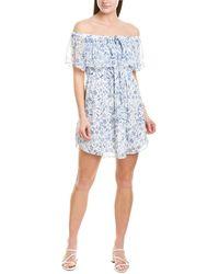 Greylin Melody Shift Dress - White