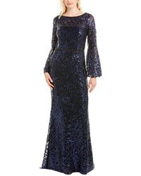 Carmen Marc Valvo Gown - Blue