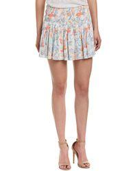 Maje Smocked Mini Skirt - White