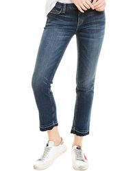 Current/Elliott The Cropped Loved Straight Leg - Blue