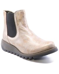 Fly London Salv Leather Bootie - Multicolour