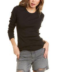James Perse Long Sleeve Ribbed T-shirt - Black