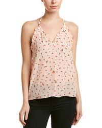 Rebecca Taylor Floral Silk Tank - Pink