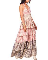 LoveShackFancy Clarissa Silk Maxi Dress - Pink