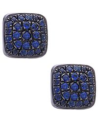 Socheec - Colour Stone Jewellery 18k & Silver 0.43 Ct. Tw. Gemstone Studs - Lyst