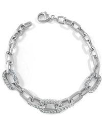 Sabrina Designs 14k 4.00 Ct. Tw. Diamond Link Bracelet - Metallic
