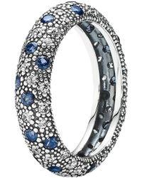 PANDORA Comic Stars Silver Cz & Crystal Ring - Metallic