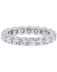 Diana M. Jewels . Fine Jewellery Platinum 2.50 Ct. Tw. Diamond Eternity Ring - Metallic