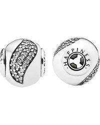 PANDORA Essence Collection Silver & Cz Happiness Charm - Metallic