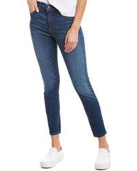 J.Crew Jeans High-rise Toothpick Medium Wash Skinny Leg - Blue